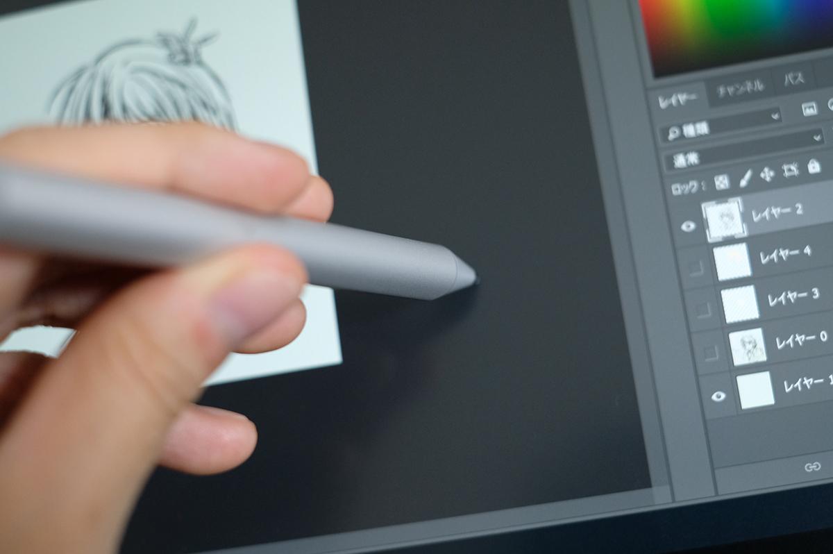 ペーパーライクフィルムとペン