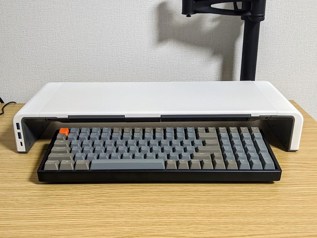 工匠藤井モニター台とKeychron K4